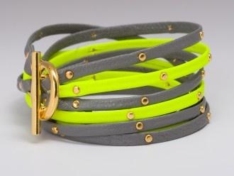 neon + gray: Leather Triple, Neon, Wrap Bracelets, Triple Strand, Jewelry, Gorjana Graham, Graham Leather
