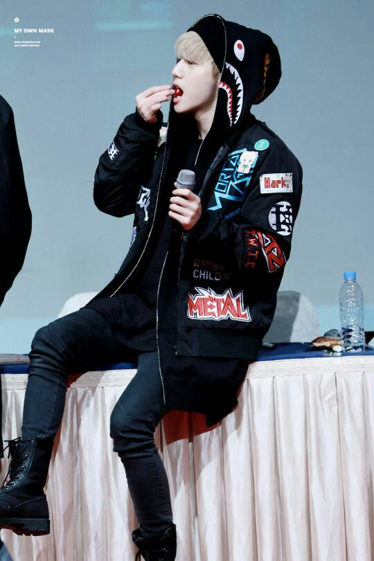 Got 7 mark tuan with his monster jacket