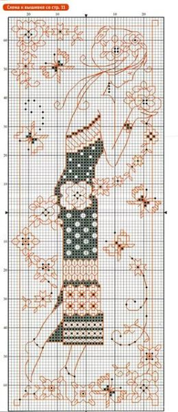 Gallery.ru / Фото #1 - блэкворк - anapa-mama Blackwork cross stitch