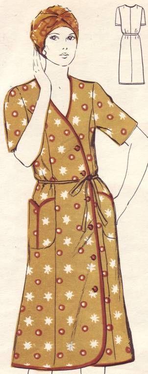 летний хлопчатобужный халат для женщины с полной фигурой, р.54