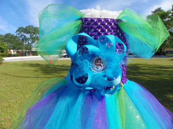 Ariel Tutu Tulle Costume Dress Halloween by MissMatchBoutique, $39.99