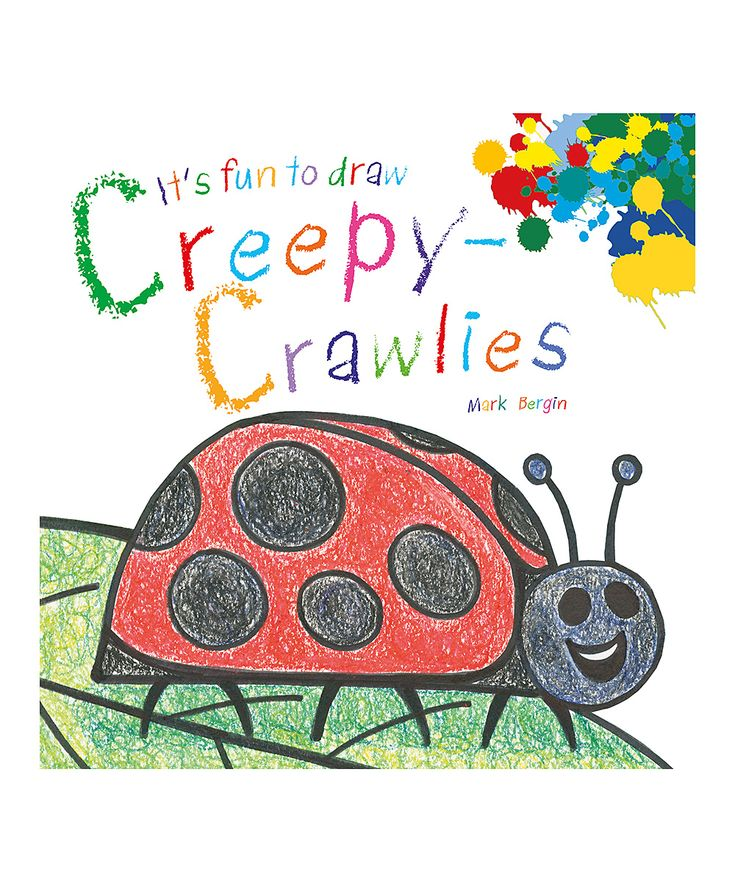 it's fun to draw creepycrawlies coloring book  coloring