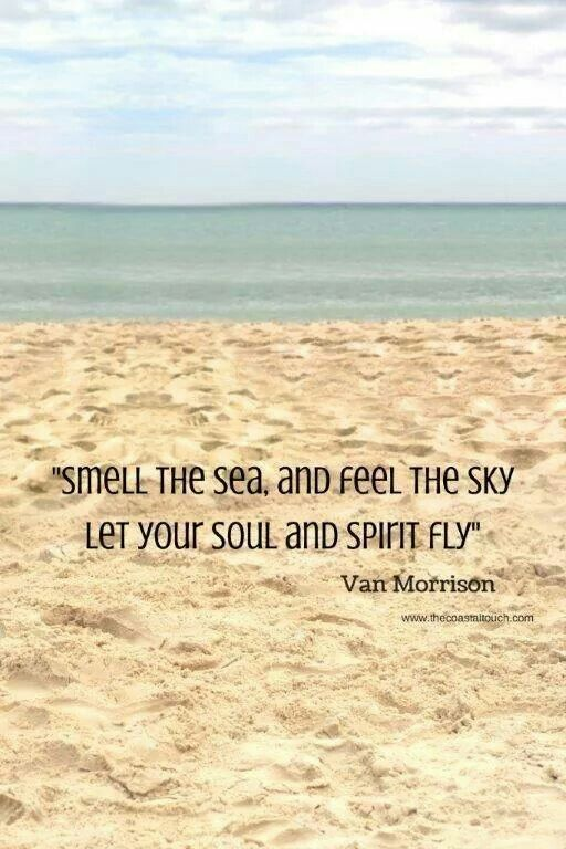 Smell the sea, and feel the sky. Let your soul and spirit fly. -Van Morrison