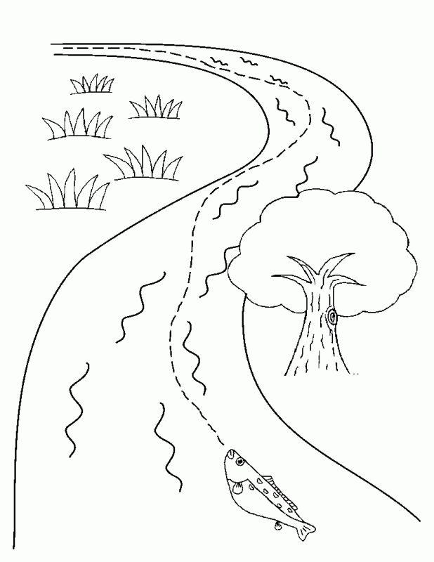 Картинки для раскраски ручеек
