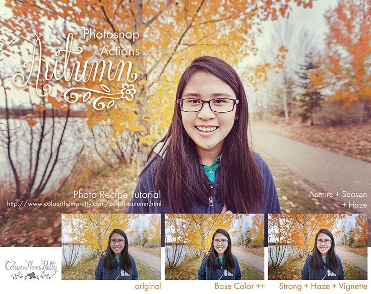 Photoshop Actions: Autumn Photo Recipe Tutorial