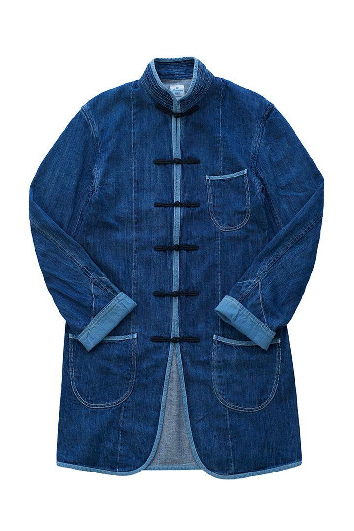 porter classic summer denim chinese coat kanazawa limited edition サマー デニムチャイナコート インディゴブルー pc 金沢 限定 流行に左右されない定番素材 サマーデニム 男性の服 メンズファッション ポータークラシック