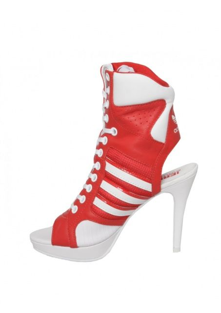 Lace Up High Heels Red