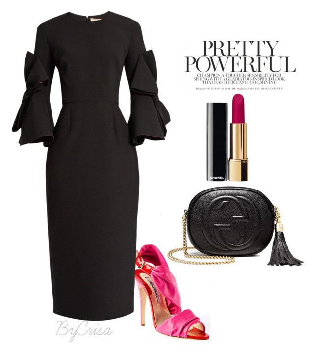 """""""Untitled #805"""" by crisa-gloria-eduardo on Polyvore featuring Brian Atwood, Roksanda, Chanel and Gucci"""
