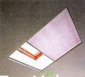 天窓・トップライトにハニカムサーモスクリーン取付で断熱/省エネアップ トップライトタイプ