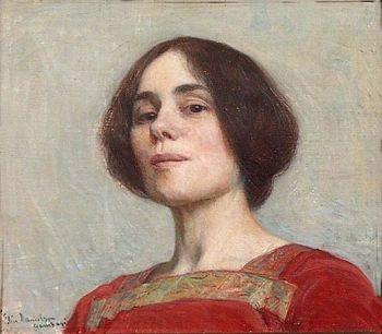 Elin Danielson-Gambogi (1861-1919) self-portrait