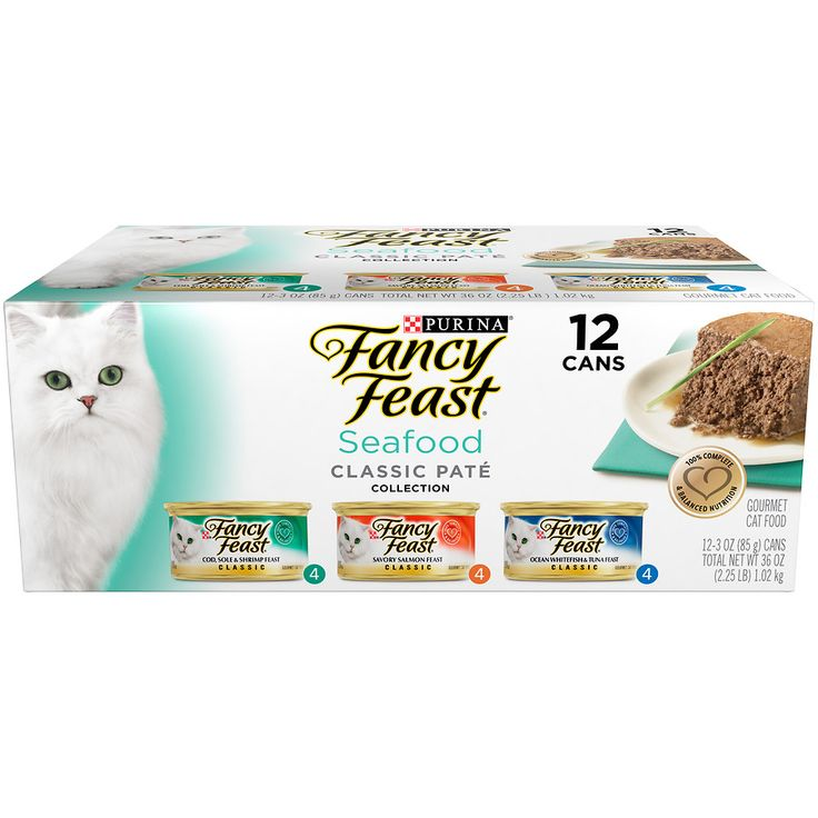 Fancy Feast Seafood Classic Pate Collection Gourmet Wet Cat Food 3 Flavor