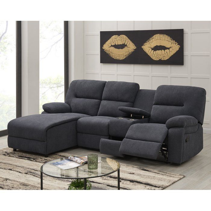 Sensational Wiss Left Hand Facing Reclining Sectional Furniture In Ibusinesslaw Wood Chair Design Ideas Ibusinesslaworg