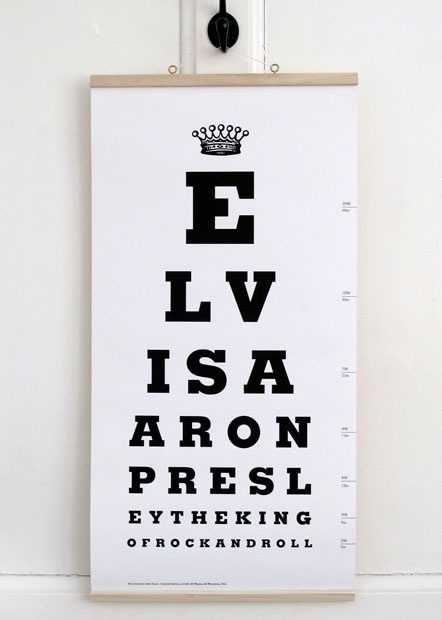 Elvis Aaron Presley the King of Rock and Roll eye chart: Charts, Eye Test, Presley Eye, Elvis Presley, Eye Chart, Eyes