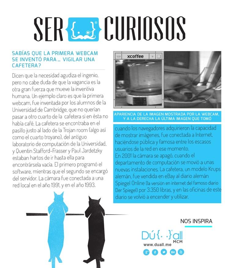 Sabías que La primera webcam se inventó para… vigilar una   cafetera?