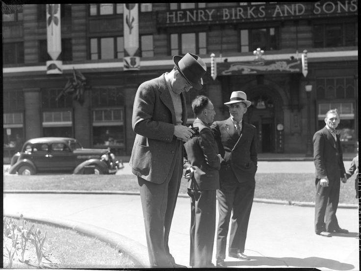 Royal Visit. Man Taking Photo. Poirier, Conrad. May 18th, 1939.