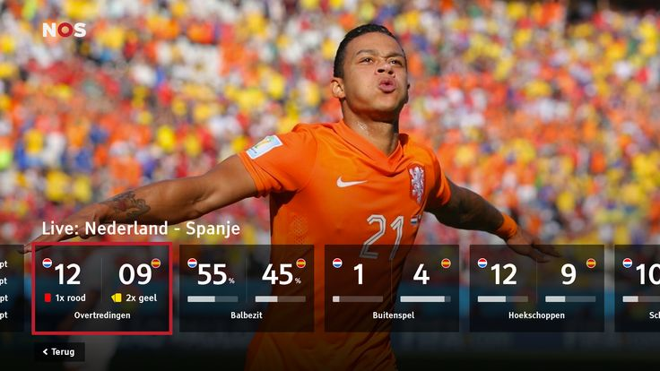 A HBBTV which displays statistics during a live football match. Replay Goals, view standings, corners, ball posession etc. #ui #tv #television #interface #smarttv #hbbtv #iptv #connected #worldcup #football #live #linear