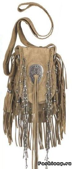 ☯☮ॐ American Hippie Bohemian Style ~ Boho Bag, Suede Leather with Fringe!