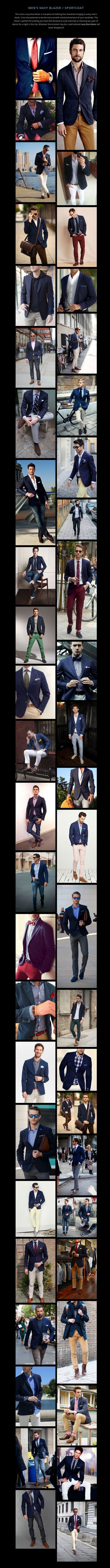 Men's Navy Blazer / Sportcoat http://www.99wtf.net/men/mens-fasion/choose-mens-flannel-shirt/