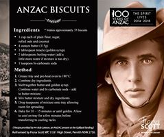 history behind anzac biscuits - Google Search