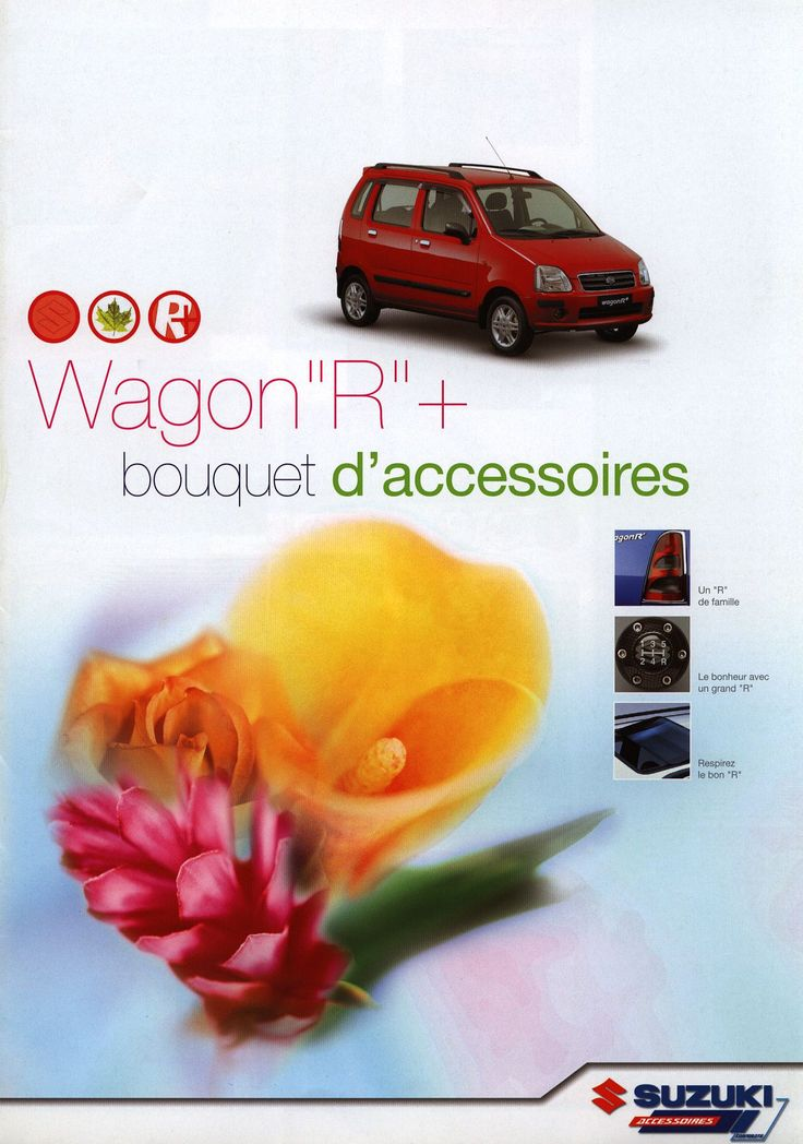 https://flic.kr/p/FWANbD | Suzuki Wagon R+ bouquet d'accessoires; 2003 | front cover car brochure | by worldtravellib World Travel library - The Collection