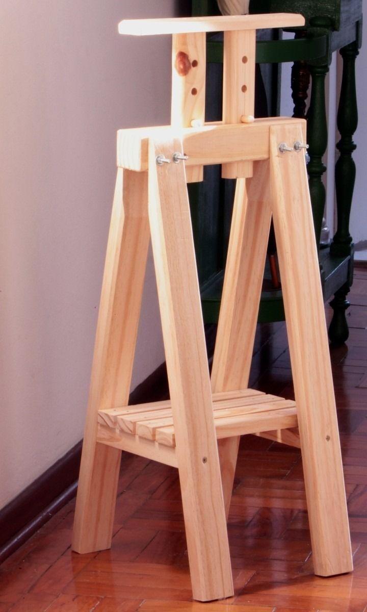 mini cavalete madeira mesa tok stok etna anos 50 bangalô