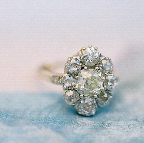 vintage set engagement ring.