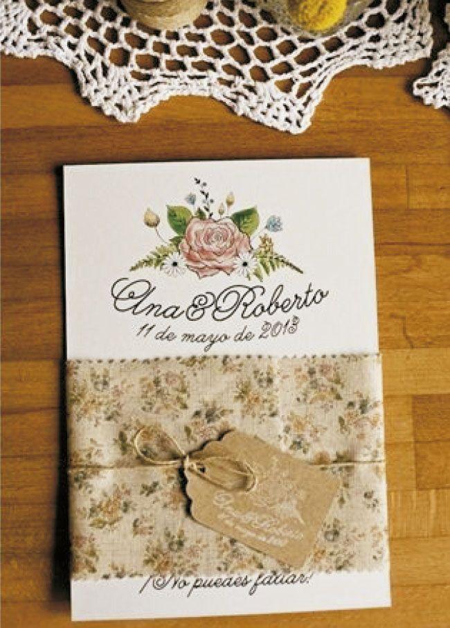 VINTAGE CON MAPA (Invitación personalizable)  Incluye: 1 Invitación con medidas 20x14 cm Banda de tela  Cabuya con etiqueta (nombre de invitados) Mapa de ubicación de boda