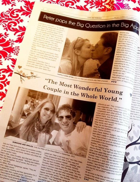 Whimsical Wedding Newspaper Engagement Announcement Newsfavor