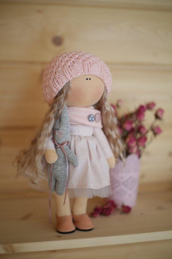 Muñeca de trapo muñeca tilda arte muñeca por AnnKirillartPlace