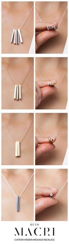3D Hidden message Necklace---Unique Festival Alphabet Jewelry Gift