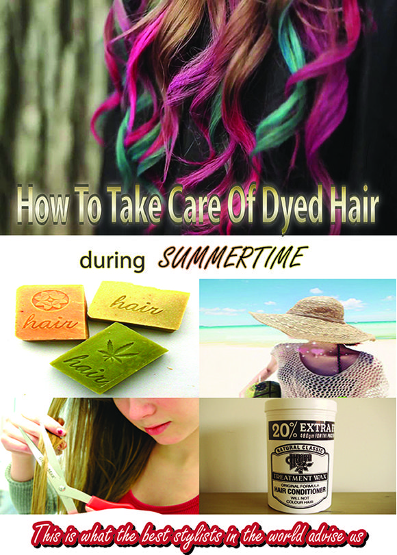 Simple Way To Protect Dyed Hair During Summertime