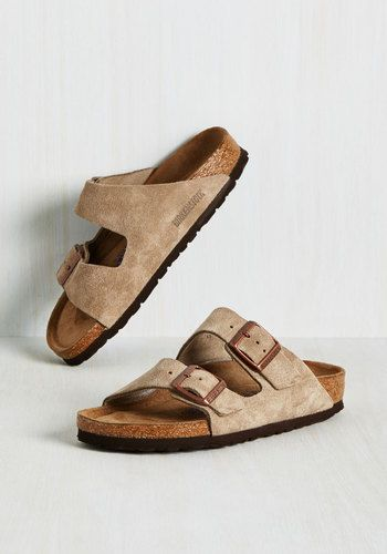 Strappy Camper Sandal in Tan Suede - Narrow by Birkenstock - Flat, Leather, Suede, Solid, Buckles, Casual, Rustic, Best, Grey, Boho,…