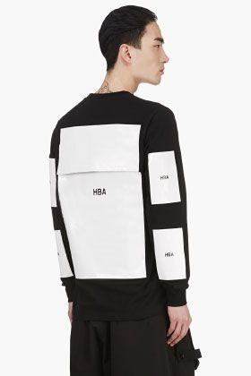 Hood By Air Black Pouch Back Long Sleeve Label T-shirt for men | SSENSE