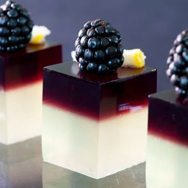 Blackberry Gin Jello Shots