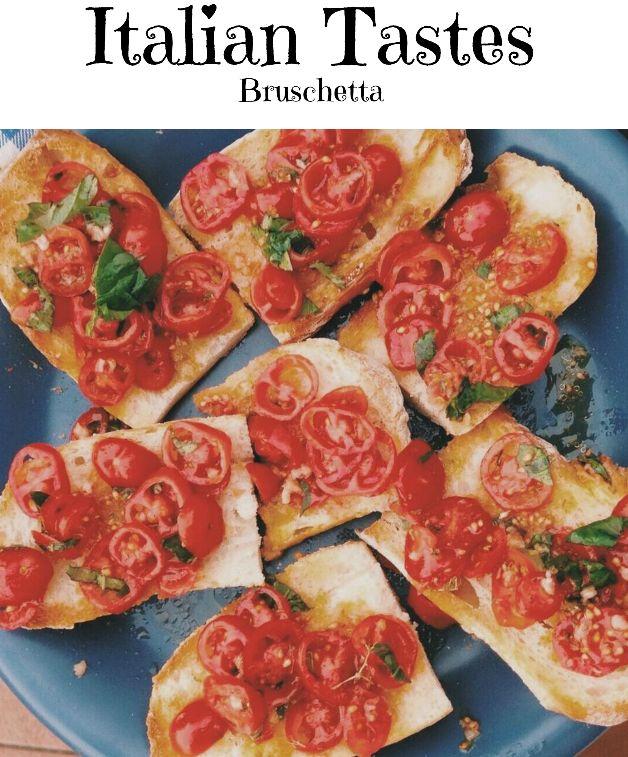 Bruschetta vegan, italian food, italian recipies