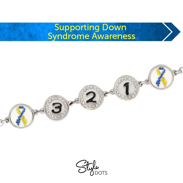 Show that you support Down Syndrome Awareness by wearing our special 12 mm Dot. Proceeds go to support Down Syndrome Awareness.