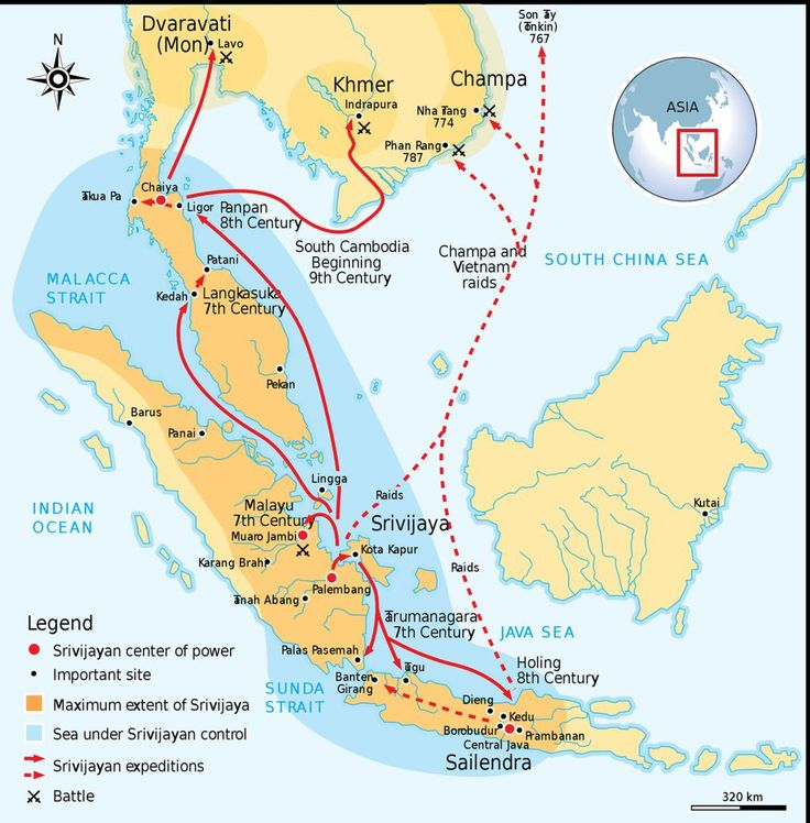 Description of the Srivijaya Empire in what is now Indonesia from your About.com Guide to Asian History.