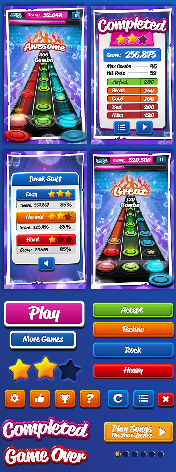Rock Guitar Hero 2 by Sabrina Torchiana, via Behance