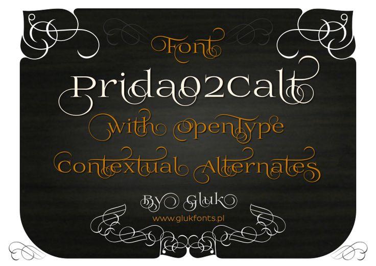 Font Prida02Calt