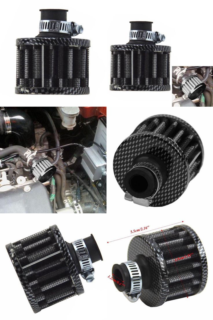 [Visit to Buy] 12mm Carbon Car Motor Cold Air Intake Filter Turbo Vent Crankcase Breather Auto Filter Cleaner High Quality #Advertisement