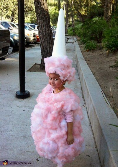 #diy Halloween costumes; Cotton Candy - and other homemade costumes. CottonCandy
