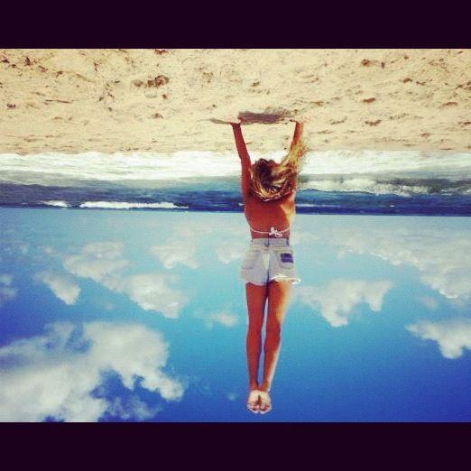 Vertical, playa, gimnasia Artistica