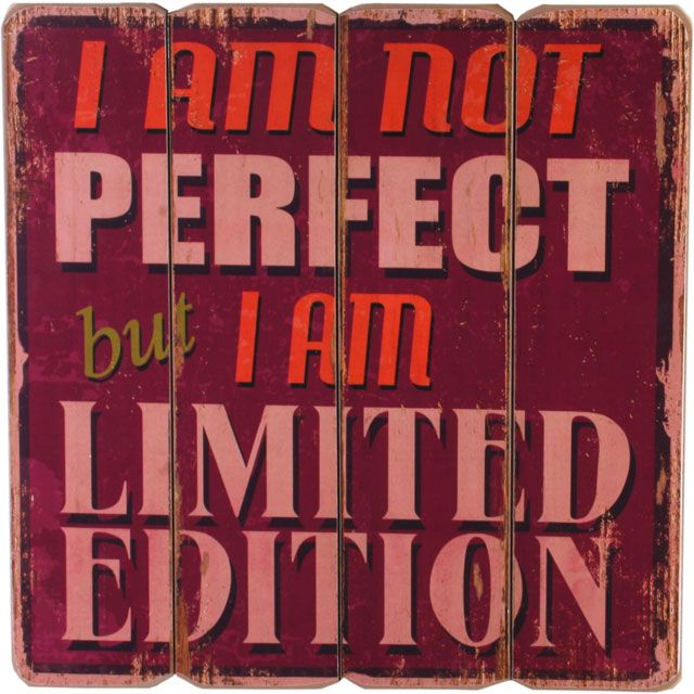 Im Not Perfect Wall Plaque £8.99