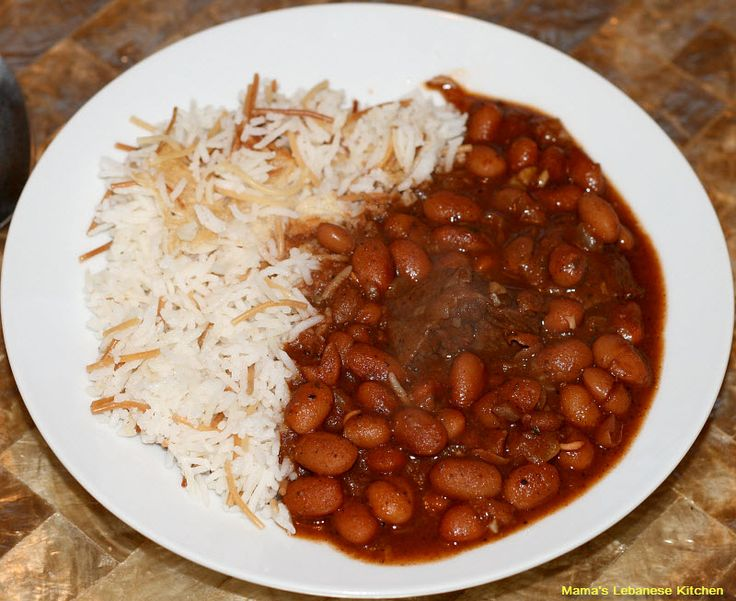 Lebanese Beans & Rice - My half Lebanese/Colombian mother makes her rice this way ! Who knew
