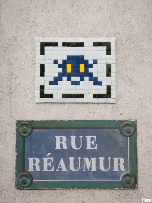 Space Invader @ Rue Réaumur | Paris