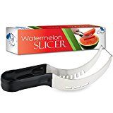 #4: Watermelon Slicer Corer & Server Cutter Tongs for Melons & More Stainless Steel Knife Peeler by Chuzy Chef