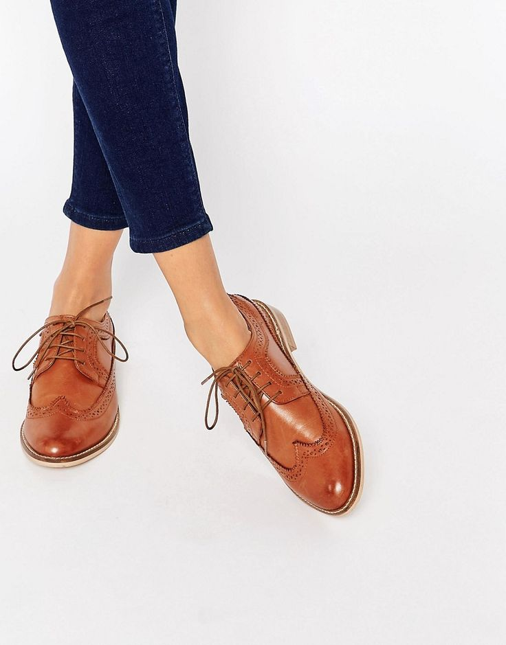 Image 1 of ASOS MAI Leather Brogues