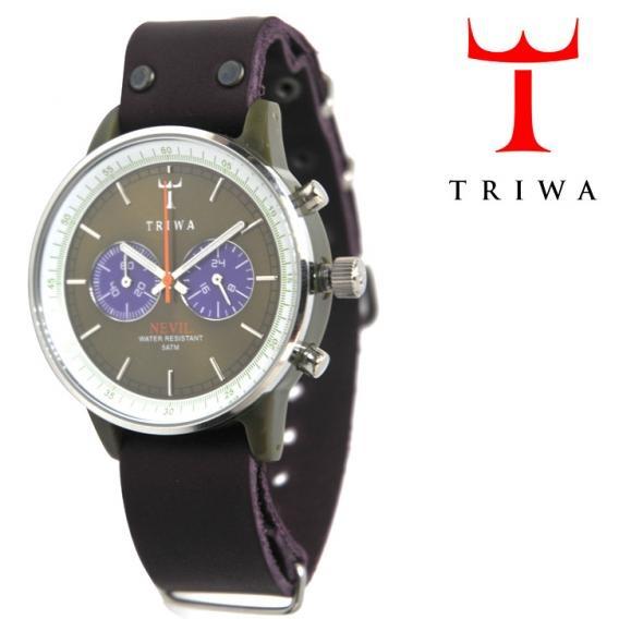 TRIWA(トリワ)  リストウォッチ 腕時計 パープル×グリーン クロノグラフ 【送料無料】 wc-triwa-042