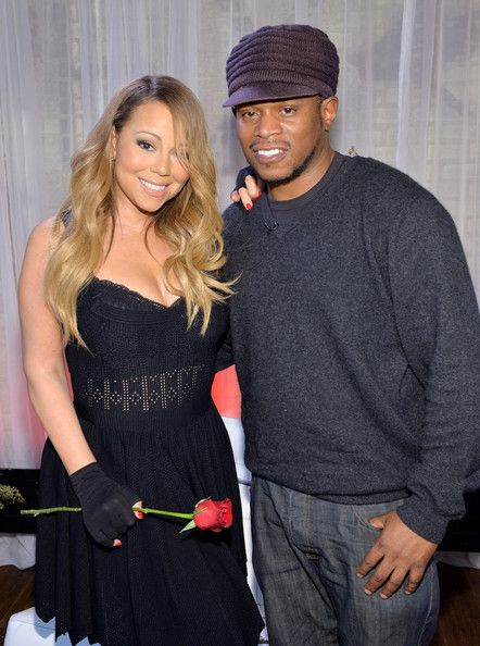 """Mariah Carey Photos - Singer Mariah Carey and Sway attend MTV First: Mariah Carey's """"You're Mine (Eternal)"""" music video world premiere at MTV Studios on February 12, 2014 in New York City. - MTV First: Mariah Carey's """"You're Mine (Eternal)"""""""