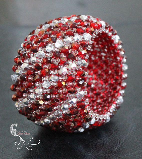 χάντρα σπόρων βραχιόλι με χάντρες κοσμήματα με χάντρες από CreationsLaetiRose